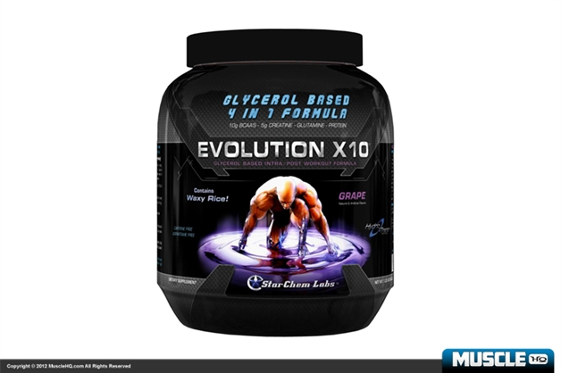 StarChem Labs Evolution X10 Glycerol IntraPost Workout Formula - SHORT DATED
